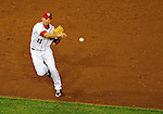 21 June 2011: Washington Nationals third baseman Ryan Zimmerman in action against the Seattle Mariners at Nationals Park in Washington, District of Columbia. The Nationals rallied from a 5-1 deficit, scoring 5 runs in the bottom of the 9th, to defeat the Mariners 6-5 in inter-league play. Mandatory Credit: Ed Wolfstein Photo