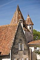 Chateau de Bourdeilles popular as a tourist destination near Brantome in Northern Dordogne, France