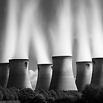 Drax Power Station cooling towers, East Yorkshire