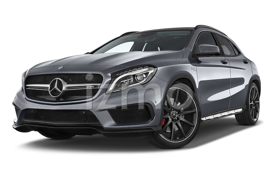 stock pictures of low aggressive front three quarter view of a 2015 mercedes benz gla klasse amg. Black Bedroom Furniture Sets. Home Design Ideas