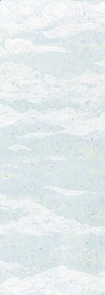 Cloud in 1.5 cm hand chopped tumbled Thassos, Celeste, Carrara, Ming Green