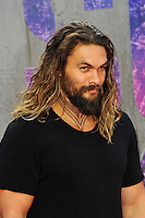LONDON, ENGLAND - AUGUST 3: Jason Momoa attending the 'Suicide Squad' European Premiere at Odeon Cinema, Leicester Square on August 3, 2016 in London, England.<br /> CAP/MAR<br /> &copy;MAR/Capital Pictures /MediaPunch ***NORTH AND SOUTH AMERICAS ONLY***