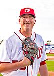 28 February 2016: Washington Nationals pitcher Sammy Solis poses for his Spring Training Photo-Day portrait at Space Coast Stadium in Viera, Florida. Mandatory Credit: Ed Wolfstein Photo *** RAW (NEF) Image File Available ***
