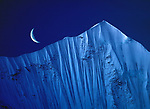 Crescent Moon over Mt. Lingtrin, Tibet<br />