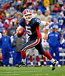 23 December 2007: Buffalo Bills quarterback Trent Edwards scrambles in the backfield as he looks downfield for an open receiver against the New York Giants at Ralph Wilson Stadium in Orchard Park, NY. The Giants defeated the Bills 38-21. ..Mandatory Photo Credit: Ed Wolfstein Photo