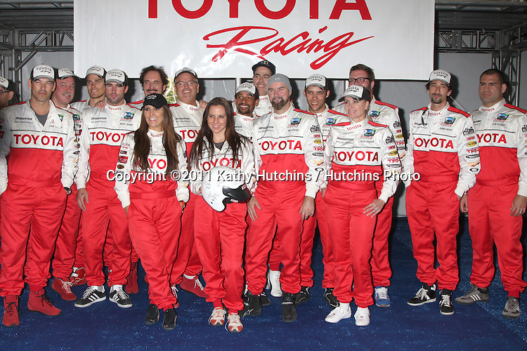 LOS ANGELES - APR 3:  Pro/Celebrity Race Participants at the 2012 Toyota Pro/Celeb Race Press Day at Toyota Long Beach Grand Prix Track on April 3, 2012 in Long Beach, CA