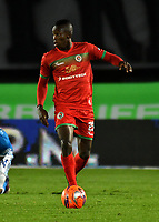 BOGOTA - COLOMBIA - 09 – 05 - 2017: Luis Caicedo, jugador de Cortulua, en acción, durante partido de la fecha 17 entre Millonarios y Cortulua, por la Liga Aguila I-2017, jugado en el estadio Nemesio Camacho El Campin de la ciudad de Bogota. / Luis Caicedo, player of Cortulua, in action during a match of the date 17th between Millonarios and Cortulua, for the Liga Aguila I-2017 played at the Nemesio Camacho El Campin Stadium in Bogota city, Photo: VizzorImage / Luis Ramirez / Staff.