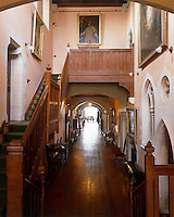 The staircase hall and impressive corridor at Arundel Castle