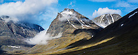 1662 meter Tolpagorni - Duolbagorni rises above Ladtjovagge viewed from near Kebnekaise Fj&auml;llstation, Lappland, Sweden