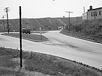 Pleasant Hills PA., Cloverleaf intersection in Pleasant Hills PA. Lebanon Church Road in Pleasant Hills, Route 51 in Pleasant Hills, Railway Express accident scene 1951, Brady Stewart Studio photographers, West Mifflin slag dump