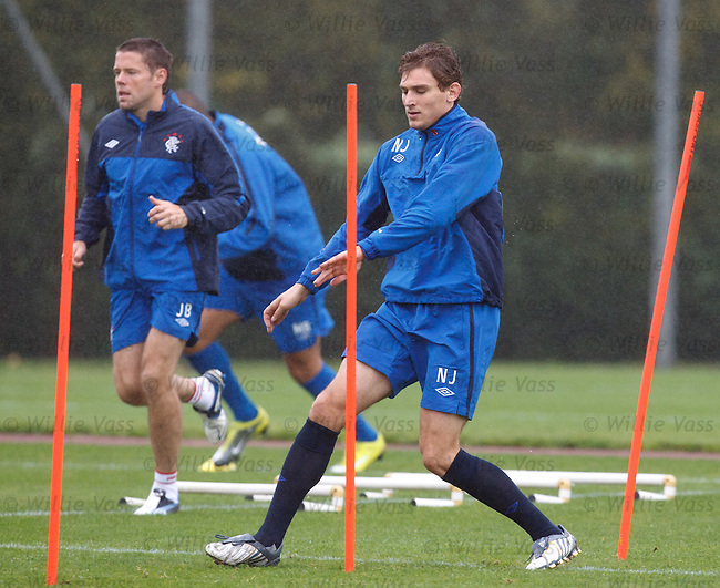 Nikica Jelavic and James Beattie gear up in training to bang in the goals at Hamilton