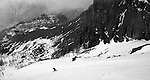 Cannon Mountain Couloir, eastern Washington backcountry ski tour