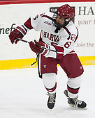 Colton Kerfoot (Harvard - 6) - The Harvard University Crimson defeated the US National Team Development Program's Under-18 team 5-2 on Saturday, October 8, 2016, at the Bright-Landry Hockey Center in Boston, Massachusetts.