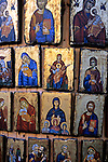 Europe, Greece, Rhodes. Greek religious icons.