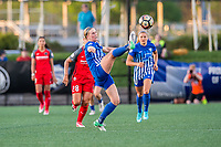 Boston, MA - Friday May 19, 2017: Natasha Dowie during a regular season National Women's Soccer League (NWSL) match between the Boston Breakers and the Portland Thorns FC at Jordan Field.
