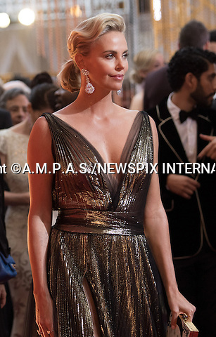 26.02.2017; Hollywood, USA: CHARLIZE THERON<br /> attends The 89th Annual Academy Awards at the Dolby&reg; Theatre in Hollywood.<br /> Mandatory Photo Credit: &copy;AMPAS/NEWSPIX INTERNATIONAL<br /> <br /> IMMEDIATE CONFIRMATION OF USAGE REQUIRED:<br /> Newspix International, 31 Chinnery Hill, Bishop's Stortford, ENGLAND CM23 3PS<br /> Tel:+441279 324672  ; Fax: +441279656877<br /> Mobile:  07775681153<br /> e-mail: info@newspixinternational.co.uk<br /> Usage Implies Acceptance of Our Terms &amp; Conditions<br /> Please refer to usage terms. All Fees Payable To Newspix International