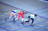SCHAATSEN: HEERENVEEN: Thialf, 07-06-2012, Zomerijs, Pien Keulstra, Annouk van der Weijden, Linda de Vries, Team Pursuit training, ©foto Martin de Jong