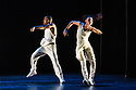 London, UK. 06.09.2016. Alvin Ailey Dance theater present a programme of four UK premieres at Sdler's Wells as part of their tour with Dance Consortium this autumn. This piece is: Exodus, choreographed by Rennie Harris. The dancers in this piece are: Yannick Lebrun, Renaldo Maurice, Daniel Harder, Michael Jackson Jr, Hope Boykin, Glenn Allen Sims, Linda Celeste Sims, Jamar Roberts, Jeroboam Bozeman, Belen Pereyra, Vernard J Gilmore, Matthew Rushing, Sarah Daley, Akua Noni Parker, Jacqueline Green, Ghrai Devore. Photograph © Jane Hobson.