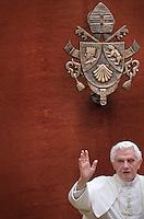 Pope Benedict XVI, General audience,Summer residence of Castelgandolfo . August 17, 2011