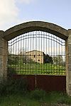 Israel, Shephelah, a gate of the Salesian Monastery in Beth Gemal