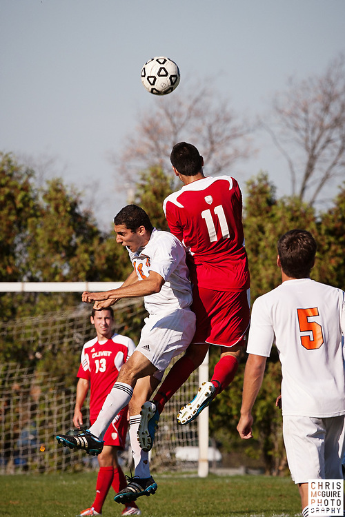 10/11/11 - Kalamazoo, MI: Kalamazoo College Men's soccer vs Olivet.  Olivet won the game 2-0.  Photo by Chris McGuire.
