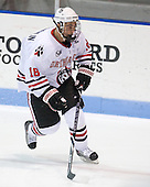 Mike McLaughlin (Northeastern - 18) - The Northeastern University Huskies defeated the visiting Providence College Friars 5-0 on Saturday, November 20, 2010, at Matthews Arena in Boston, Massachusetts.
