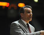 Ole Miss vs. Arkansas Little Rock head basketball coach Steve Shields at the C.M. &quot;Tad&quot; Smith Coliseum in Oxford, Miss. on Friday, November 16, 2012. Ole Miss won 92-52.