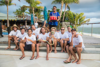 Namotu Island Resort, Nadi, Fiji (Monday, June 6 2016): The Fiji Pro, stop No. 5 of 11 on the 2016  WSL Championship Tour, witnessed heated head-to-head match-ups as the world's best surfers fought through elimination Round 2 in four-to-six foot (1 - 2 metre) waves at Cloudbreak. Round Two was completed with the new longer period swell from the West slowly dropping during the day.  The contest was looking at a number of lay-days due to the  dropping swell so it gave the surfers on Namotu a chance to celebrate Taj Burrow's birthday and his retirement.  Photo: joliphotos.com