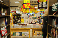 The Borders bookstore in the Time Warner Center in New York is seen on Thursday, September 1, 2011 at their going out of business sale. The bankrupt bookstore chain announced that it will shut down all of its remaining 399 stores.   (© Richard B. Levine)