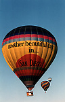 "Hot air balloon  with ""Another beautiful day in San Diego,"" California, California Fine Art and Stock Photography by Ron Bennett,  California Fine art Photography and Stock Photography by Ronald T. Bennett Photography ©, FINE ART and STOCK PHOTOGRAPHY FOR SALE, CLICK ON  ""ADD TO CART"" FOR PRICING,"