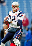 20 December 2009: New England Patriots' quarterback Tom Brady warms up prior to facing the Buffalo Bills at Ralph Wilson Stadium in Orchard Park, New York. The Bills defeated the Patriots 17-10. Mandatory Credit: Ed Wolfstein Photo