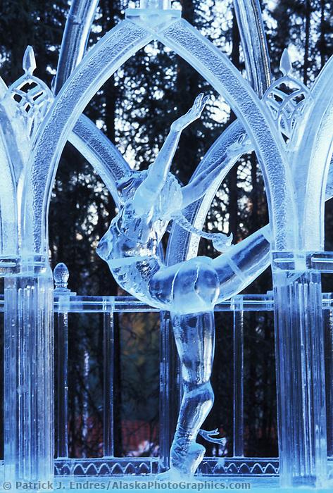 Limelight, award winning ice sculpture, World Ice Art Championships held each march in Fairbanks, Alaska,