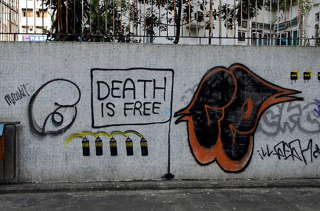 Hong Kong urban scene grafitti