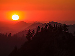 sunset from Moro Rock, Sequoia National Park, California