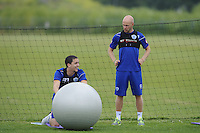 Andy Johnson and Hogan Ephraim of QPR in training