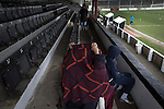 Chorley 2 Altrincham 0, 21/01/2017. Victory Park, National League North. Early arrivals in the main stand at Victory Park, before Chorley played Altrincham in a Vanarama National League North fixture. Chorley were founded in 1883 and moved into their present ground in 1920. The match was won by the home team by 2-0, watched by an above-average attendance of 1127. Photo by Colin McPherson.