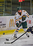2 February 2013: University of Vermont Catamount defender Dayna Colang, a Freshman from Fairbanks, Alaska, in action against the University of New Hampshire Wildcats at Gutterson Fieldhouse in Burlington, Vermont. The Lady Wildcats defeated the Lady Catamounts 4-2 in Hockey East play. Mandatory Credit: Ed Wolfstein Photo