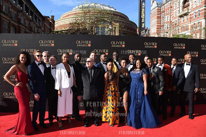 Dreamgirls cast at The Olivier Awards 2017 at the Royal Albert Hall, London, UK. <br /> 09 April  2017<br /> Picture: Steve Vas/Featureflash/SilverHub 0208 004 5359 sales@silverhubmedia.com