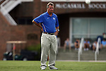 28 August 2009: Duke head coach Robbie Church. The Duke University Blue Devils lost 1-0 to the University of North Carolina Greensboro Spartans at Fetzer Field in Chapel Hill, North Carolina in an NCAA Division I Women's college soccer game.