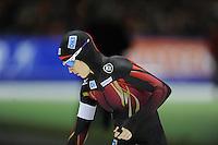 SCHAATSEN: HEERENVEEN: 14-12-2014, IJsstadion Thialf, ISU World Cup Speedskating, Isabell Ost (GER), ©foto Martin de Jong