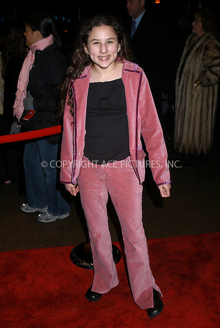 Halle Kate Eisenberg arrives at the special screening of TNT's 'The Goodbye Girl' in New York City. January 12 2004. Please byline: AJ SOKALNER/NY Photo Press.   ..*PAY-PER-USE*      ....NY Photo Press:  ..phone (646) 267-6913;   ..e-mail: info@nyphotopress.com