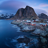 Scenic village of Hamnøy, near Reine, Moskenesøy, Lofoten Islands, Norway