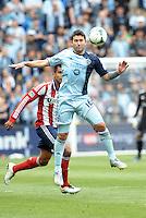 Claudio Bieler (16) forward Sporting KC in action..Sporting Kansas City defeated Chivas USA 4-0 at Sporting Park, Kansas City, Kansas.