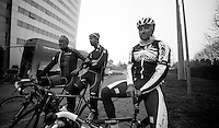 Milan-San Remo preparations..the day before.Luca Paolini before last training ride