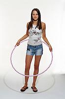 Girl holding hoola-hoop