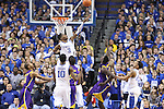UK freshman forward Nerlens Noel blocks a shot during the first half of the men's basketball game vs. LSU at Rupp Arena on Saturday, January 26, 2013, in Lexington, Ky. Photo by Kalyn Bradford | Staff