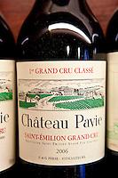 Fine wine Chateau Pavie 1er Grand Cru Classe 2006 vintage in Vignobles et Chateaux shop in St Emilion, Bordeaux, France