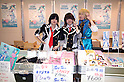 "June 2, 2012, Tokyo, Japan - Japanese women exhibitors dress as a anime character at the Moe Culture Festival 2012.  The Anime and Cosplay exhibition ""Moe Culture Festival 2012"" from June 2nd to 3rd at Otaku Sangyou Plaza Pio.."