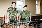 At the Ballymullen Baracks open Day on Monday were Snipper Sgt O'Sullivan and Snipper Sgt McSweeney