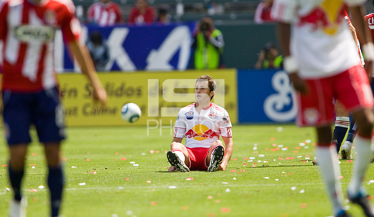 NY Red Bulls midfielder Sinisa Ubiparipovic (8) looking for a call. Chivas USA defeated the Red Bulls of New York 2-0 at Home Depot Center stadium in Carson, California April 10, 2010.  .